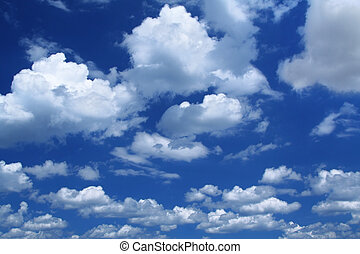 massive cumulus clouds - summer sky background with...