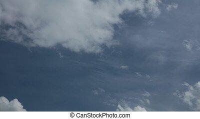 Summer Sky High Definition Time Lapse - Blue summer sky high...