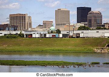 Summer skyline of Dayton, Ohio