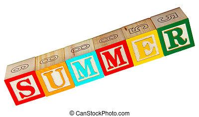 Summer Spelled In Blocks