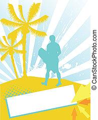summer - sport background - vector illustration of a...