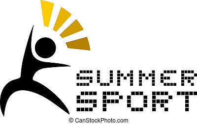 Summer sport  - Creative design of summer sport