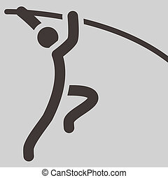 Summer sports icons - pole vault icon