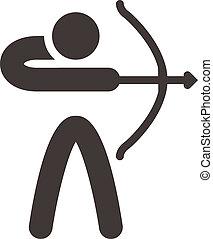 Archery icon - Summer sports icons set - Archery icon