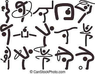 Gymnastics Rhythmic icons