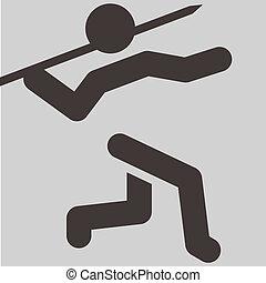 Javelin throw icon - Summer sports icons set - Javelin throw...