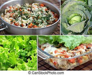 Summer steamed vegetables
