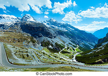 Summer Stelvio pass (Italy) - Summer Stelvio pass with ...