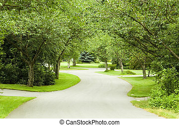 Summer street. - Quiet country road in summer. Also...
