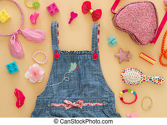 6adb2abc8 Kid's summer fashion clothes. Kid's summer clothes isolated on white ...