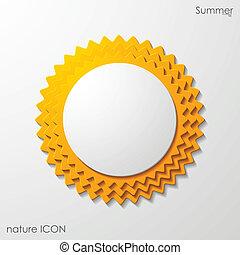 summer sun icon