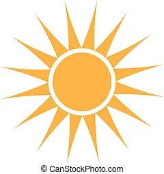 Summer Sun logo. Vector graphic design