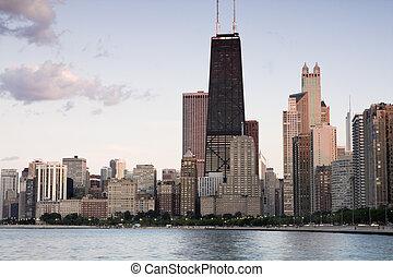 Summer sun rays in Chicago