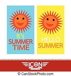 Summer sun sign