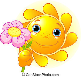 Summer Sun with flower
