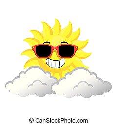 summer sun with sunglasses