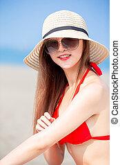 summer sunblock concept