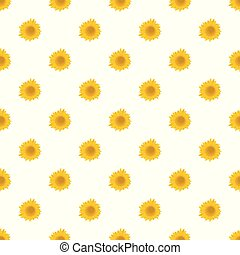 Summer sunflower pattern seamless vector