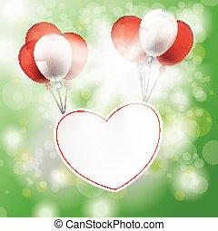 Summer Sunlight Bokeh Forest Heart Balloons