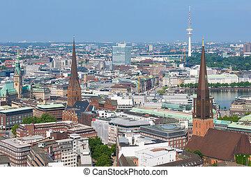 Summer sunny day in Hamburg