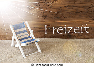 Summer Sunny Greeting Card, Freizeit Means Leisure Time -...