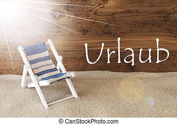 Summer Sunny Greeting Card, Urlaub Means Holiday - Sunny...