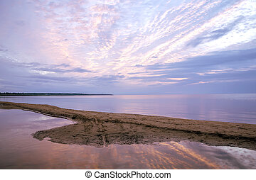 Ladoga lake - Summer sunrise on Ladoga lake, Leningrad...