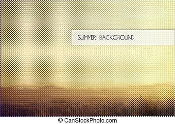summer sunset background