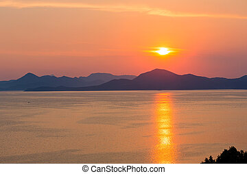 Summer sunset coastline (Croatia)