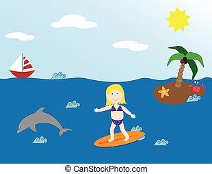 Summer Surfer Girl