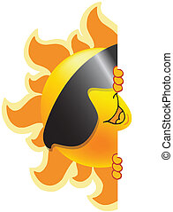 Summer symbol - summer sun symbol in the form of a smiley...