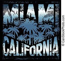 Summer tee graphic design miami california