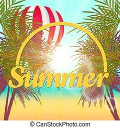 summer., tengerpart., napnyugta