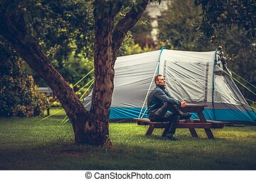 Summer Tent Camping Relax