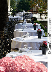 Summer terrace at the restaurant