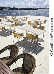 Summer terrace in cafe