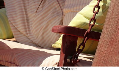 summer terrace with hammock