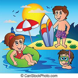 Summer theme image 1 - vector illustration.