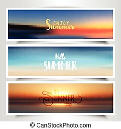 Summer themed banners
