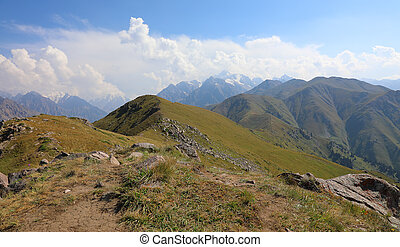 Summer Tien-Shan mountains - Amazing view of the Tian Shan ...