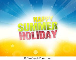 Summer Time Background Design