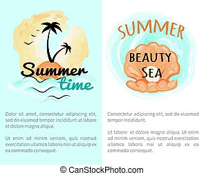 Summer Time Beauty with Open Seashell with Pearl