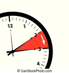 summer time change clock on white background