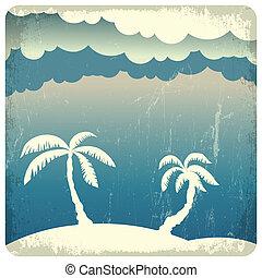 Summer time illustration. Vector