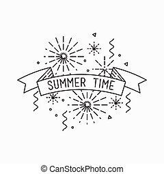 Summer time. Inspirational vector illustration