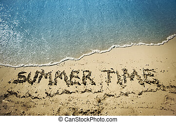 summer time - letters in the beach
