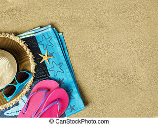 Summer time on beach