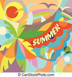 Summer time party poster
