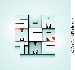 Summer Time poster design. Vector illustration. Eps 10.