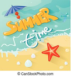 Summer time poster. Vector